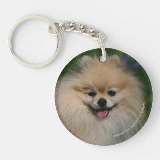 Pomeranian Smiling Keychain