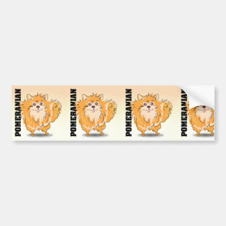 Pomeranian Spitz Dog Art Bumper Stickers