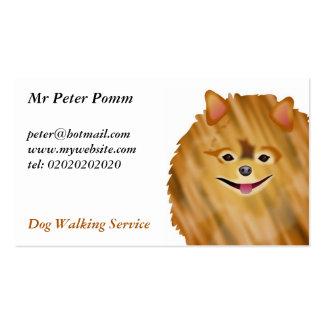 Pomeranian Plantillas De Tarjetas De Visita