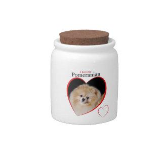 Pomeranian Treat Jar Candy Jars