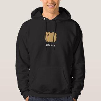 """Pomeranian """"Warm Fuzzy"""" Cute Dog with Custom Text Hoodie"""
