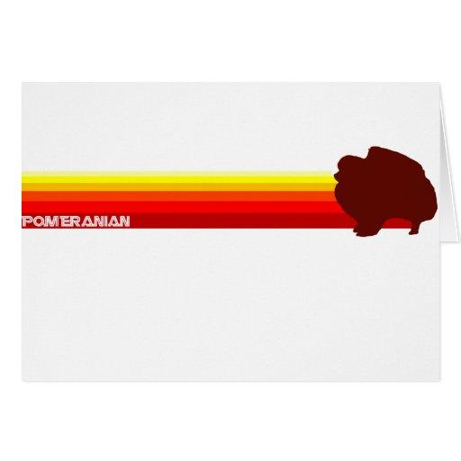 Pomeranian With Stripes Card