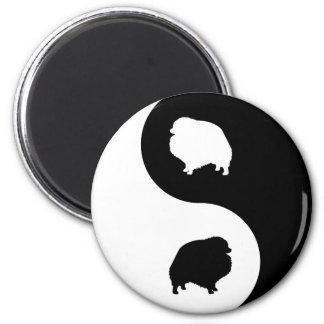 Pomeranian Yin Yang Imán De Frigorífico