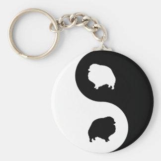 Pomeranian Yin Yang Keychain