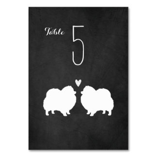 Pomeranians Wedding Table Card