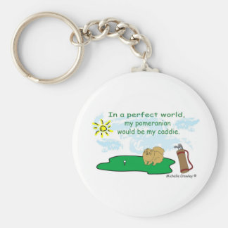 PomeranianTan Keychain