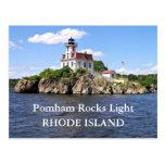 Pomham oscila la luz, postal de Rhode Island