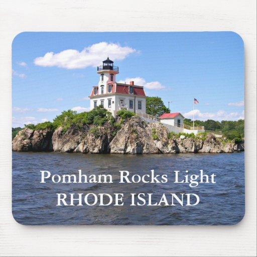 Pomham Rocks Light, Rhode Island Mousepad