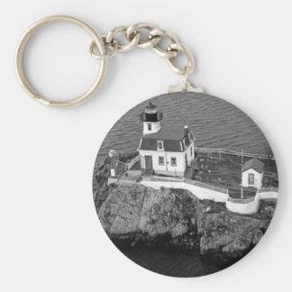 Pomham Rocks Lighthouse 2 Key Chain