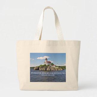 Pomham Rocks Lighthouse, Rhode Island Large Tote Bag