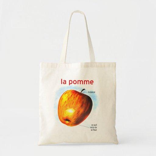 Pomme retro Apple del la de la comida del kitsch d Bolsa De Mano