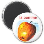Pomme retro Apple del la de la comida del kitsch d Imán De Frigorífico