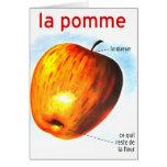 Pomme retro Apple del la de la comida del kitsch d Tarjetas