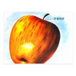 Pomme retro Apple del la de la comida del kitsch d Postales