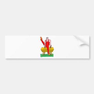 pommel horse bumper sticker