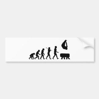 Pommel Horse Gymnastics Evolution Sports Bumper Sticker