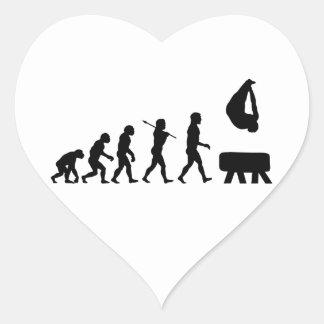 Pommel Horse Gymnastics Evolution Sports Heart Sticker
