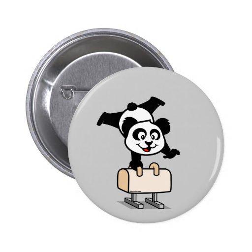 Pommel Horse Panda 2 Inch Round Button