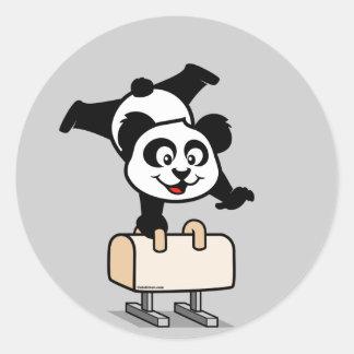 Pommel Horse Panda Sticker