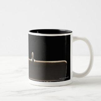 Pommel horse Two-Tone coffee mug