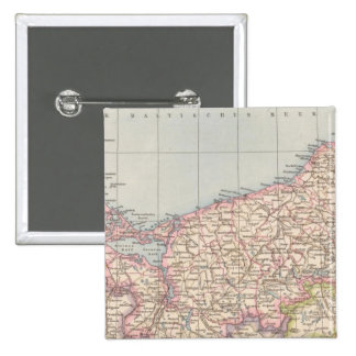 Pommern Atlas Map 2 Inch Square Button