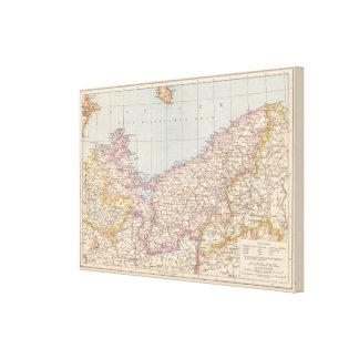 Pommern Atlas Map Canvas Print