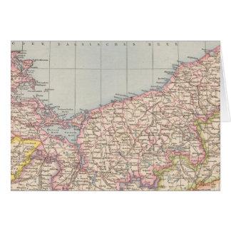 Pommern Atlas Map Greeting Card