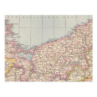 Pommern Atlas Map Postcard