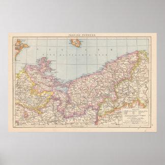 Pommern Atlas Map Poster