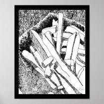 pommes frites black border poster