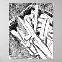 pommes frites bleed poster