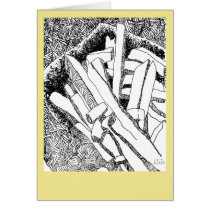 pommes frites with pale yellow border card