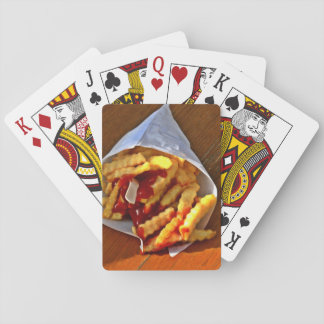 Pommes of frites playing cards