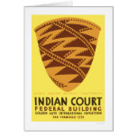 Pomo Indian Basket 1939 WPA Card