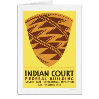Pomo Indian Basket 1939 WPA Card