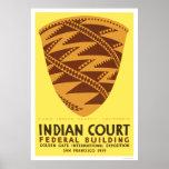Pomo Indian Basket 1939 WPA Print