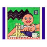 PoMoGirl que cena la postal