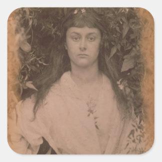 Pomona, 1872 (b/w photo) square sticker