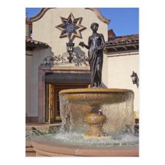 Pomona Fountain in Kansas City Postcard