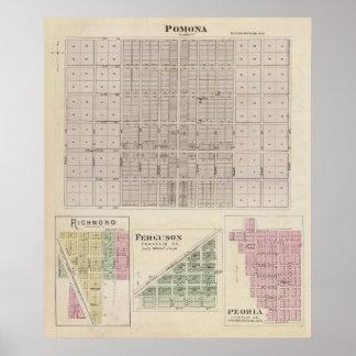 Pomona, Richmond, Ferguson y Peoria Póster