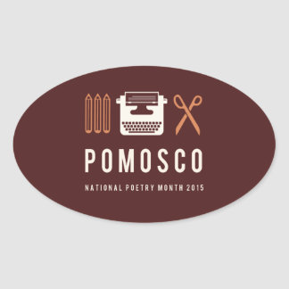PoMoSco Pegatina Ovalada
