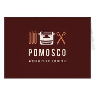 PoMoSco Tarjeta De Felicitación