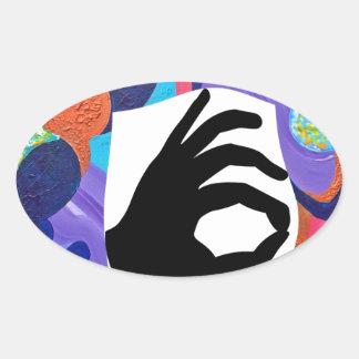 Pomp OK Oval Sticker