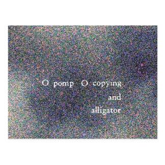 pompa copiado y cocodrilo de o de o tarjetas postales