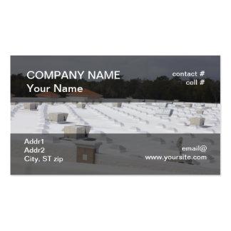 pompa de calor del tejado tarjetas de visita