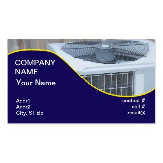 pompa de calor exterior plantilla de tarjeta de negocio