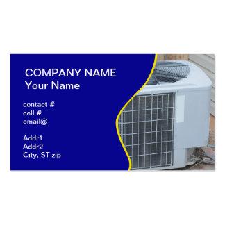 pompa de calor exterior plantillas de tarjeta de negocio
