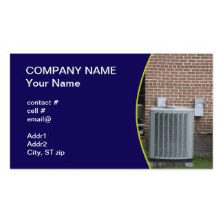 pompa de calor exterior tarjetas de visita