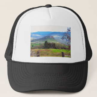 Pompadour Bluff and Horses 1 Trucker Hat