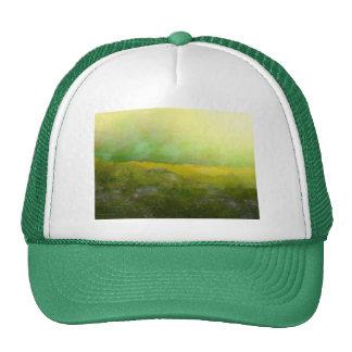 Pompadour in Yellow Green Trucker Hat